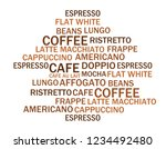 the list of coffee types.... | Shutterstock .eps vector #1234492480