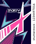 sporty abstract background | Shutterstock .eps vector #1234497016