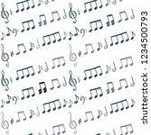 music notes seamless vector... | Shutterstock .eps vector #1234500793