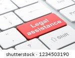 law concept  computer keyboard...   Shutterstock . vector #1234503190