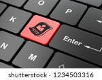 political concept  computer...   Shutterstock . vector #1234503316