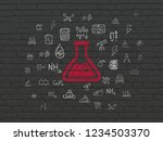 science concept  painted red...   Shutterstock . vector #1234503370