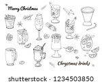 set of various traditional... | Shutterstock .eps vector #1234503850