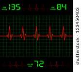 heart rate | Shutterstock .eps vector #123450403