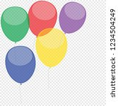 happy birthday balloons on... | Shutterstock .eps vector #1234504249
