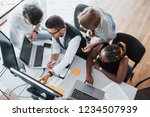 a group of multinational busy... | Shutterstock . vector #1234507939