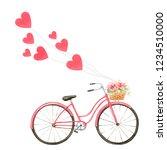 happy valentine's day.... | Shutterstock . vector #1234510000