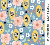 seamless pattern with hand... | Shutterstock .eps vector #1234511530