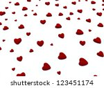 small hearts 3d background | Shutterstock . vector #123451174