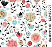 Seamless Pattern.birds And...