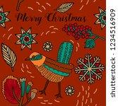 merry christmas print design ...   Shutterstock .eps vector #1234516909