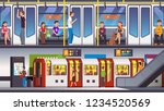 busy city underground subway... | Shutterstock .eps vector #1234520569