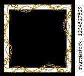 Baroque Golden Chain Background ...