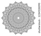 black and white mandala... | Shutterstock .eps vector #1234528390