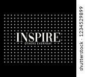 inspire others everyday slogan... | Shutterstock .eps vector #1234529899