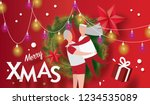 merry christmas and happy new... | Shutterstock .eps vector #1234535089