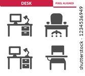 desk icons. professional  pixel ... | Shutterstock .eps vector #1234536949