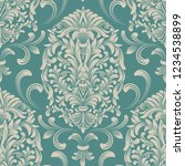 vector damask seamless pattern... | Shutterstock .eps vector #1234538899