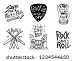 set of rock and roll music... | Shutterstock .eps vector #1234544650