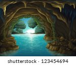 Illustration Of A Cave And A...