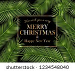 we wish you a very merry... | Shutterstock .eps vector #1234548040