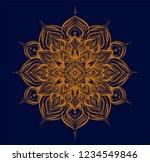 arabic pattern. hand drawn gold ...   Shutterstock .eps vector #1234549846