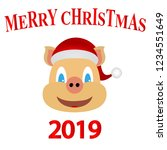 symbol of 2019 yellow earth pig ... | Shutterstock . vector #1234551649