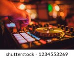 dj remote  turntables  and... | Shutterstock . vector #1234553269