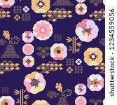 beautiful japanese seamless... | Shutterstock .eps vector #1234559056