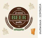 beer | Shutterstock .eps vector #123456014