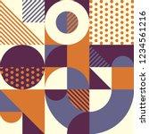 geometric pattern in retro... | Shutterstock .eps vector #1234561216