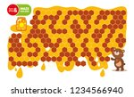 maze game for kids. help bear... | Shutterstock .eps vector #1234566940