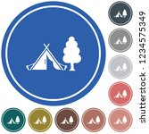 stylized icon of tourist tent.... | Shutterstock .eps vector #1234575349