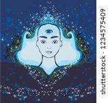 man with third eye  psychic...   Shutterstock . vector #1234575409