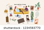 set of isolated  flat vector... | Shutterstock .eps vector #1234583770