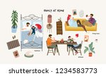 set of cute vector... | Shutterstock .eps vector #1234583773