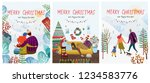 cute new year and christmas... | Shutterstock .eps vector #1234583776