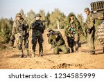 group of soldiers on the... | Shutterstock . vector #1234585999
