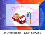 new year christmas holiday... | Shutterstock .eps vector #1234589269