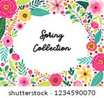 cute frame card template with...   Shutterstock .eps vector #1234590070