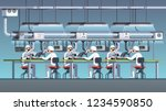 modern electric pcb factory... | Shutterstock .eps vector #1234590850