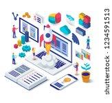 business startup isometric... | Shutterstock .eps vector #1234591513