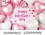air balloons of heart shaped... | Shutterstock . vector #1234594396
