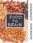 healthy food for brain power... | Shutterstock . vector #1234600243
