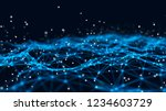 abstract tangle of lines onblue ... | Shutterstock . vector #1234603729