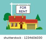 home for rent icon. real estate ... | Shutterstock .eps vector #1234606030