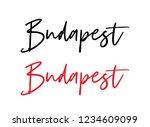 budapest calligraphy vector... | Shutterstock .eps vector #1234609099