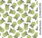 seamless endless pattern of... | Shutterstock .eps vector #1234610530