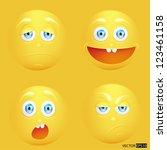 vector illustration set of... | Shutterstock .eps vector #123461158