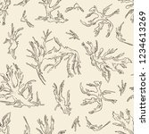 seamless pattern with tosaka ... | Shutterstock .eps vector #1234613269